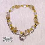 合金黃水晶愛心手鍊-天使能量屋